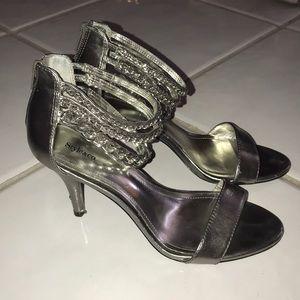 Silver Cute Heels 🤍